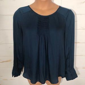 Halston pleated blouse